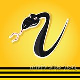 Year of black snake. Vector New Year's Eve greeting card with black snake vector illustration