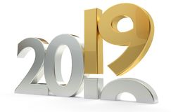 2019 year bold 3d rendering. Design Royalty Free Stock Photos