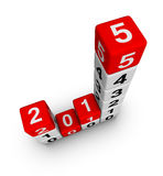 2015 year business diagram. Cubes Stock Images