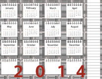 2014 year calendar Stock Photo
