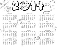 2014 year calendar Royalty Free Stock Image
