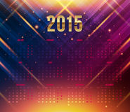 2015 year calendar. Bright dynamic background. Vector illustration Royalty Free Stock Photography
