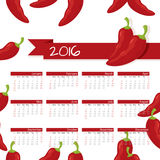 Year Calendar Chili Royalty Free Stock Photo