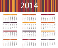 2014 year calendar Stock Photos