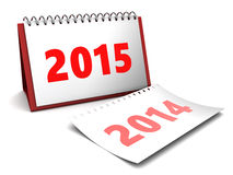 2015 year calendar. 3d illustration of 2015 year calendar over white background royalty free illustration