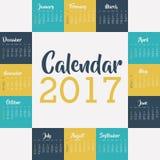 2017 year calendar design Royalty Free Stock Images