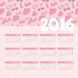 Year Calendar Girly Stock Photos