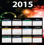 2015 year calendar. Illustration of 2015 year calendar Royalty Free Stock Photography