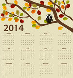 2014 year calendar Stock Photography