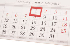 2015 year calendar. January calendar Stock Image