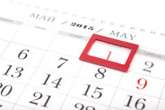 2015 year calendar. May calendar Stock Photography