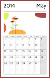2014 year calendar - may Royalty Free Stock Photos
