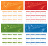 Year Calendar Music Space Royalty Free Stock Image
