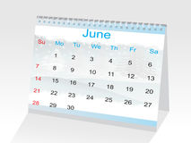 Year calendar showing the month of June Stock Images