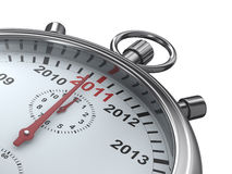 Year calendar on stopwatch. Isolated 3D image royalty free illustration
