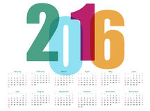 Year Calendar.. 2016 Year Calendar.  Vector illustration Stock Images