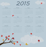 2015 year calendar. Vector illustration background Royalty Free Stock Photo