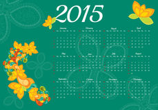 2015 year calendar. Vector illustration background Royalty Free Stock Images