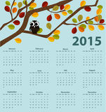 2015 year calendar. Vector illustration background Stock Image