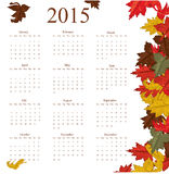 2015 year calendar. Vector illustration background Royalty Free Stock Image
