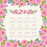 Year calendar. Vector illustration. This is file of EPS10 format Royalty Free Stock Image