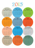 2015 year calendar on white Stock Image