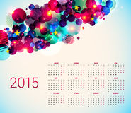 2015 year calender. Abstract background with geometric shapes. Vector illustration Stock Illustration