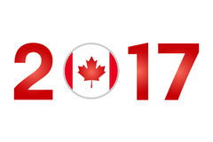 Year 2017 with Canada Flag Stock Images