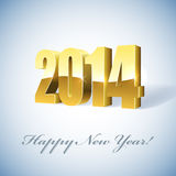 2014 year card. New 2014 year golden figures card Royalty Free Stock Images