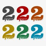 2 year, Celebrating 2 year, 2 year Anniversary - Set. Vector icon vector illustration
