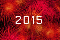 2015 year celebration with fireworks Royalty Free Stock Photos