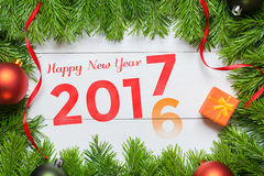 2016 year change to 2017 concept. Happy New Year Royalty Free Stock Photography