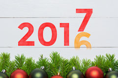 2016 year change to 2017. New year concept. Stock Image