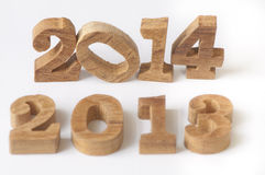 Year 2013 change to 2014 Royalty Free Stock Photography