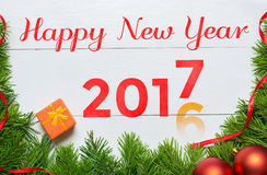 2016 year change to 2017 year concept. Happy New Year Royalty Free Stock Photos