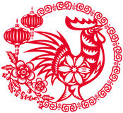 Year of Chinese rooster illustration Royalty Free Stock Images