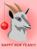 2015 Year. Chinese Year of Goat. Vector illustration Royalty Free Stock Image