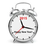 Year 2015 classic alarm clock isolated Royalty Free Stock Photos