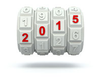 Year 2015 on the code mechanism Stock Image