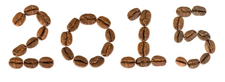2015 year from coffee beans. Royalty Free Stock Photo