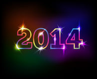 2014 year colorful background. Vector 2014 year colorful background Stock Photography
