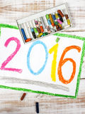 The year 2016. Colorful drawing: the year 2016 Stock Illustration