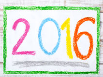 The year 2016. Colorful drawing: the year 2016 Royalty Free Illustration