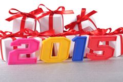 2015 year colorful figures Royalty Free Stock Photography