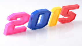 2015 year colorful figures on white Stock Images