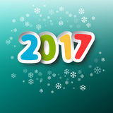 2017 Year. Colorful Vector Paper Title. 2017 Year. Colorful Vector Paper Cut Title Royalty Free Stock Image