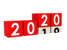 Year 2020 is coming stock illustration