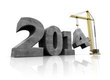 2014 year construction Royalty Free Stock Photos