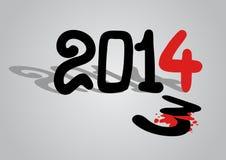 2014 year. Creative design of 2014 year vector illustration