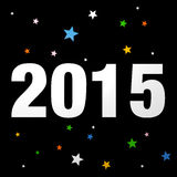 Year 2015. Creative design graphic illustration Stock Photography